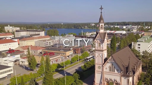 stock footage category finland city