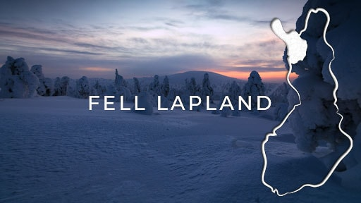 stock footage category finland fell lapland